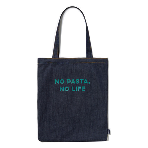 [NO PASTA, NO LIFE] BAG (Denim)