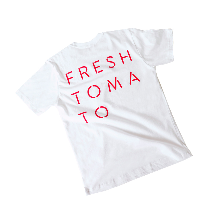 COLOR GRAPHIC T-SHIRTS (FRESH TOMATO)